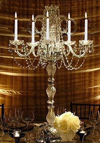 Set Of 5 Wedding Candelabras Candelabra Centerpiece Centerpieces - Great For Special Events - Set Of 5 - G46-545/5-Set Of 5