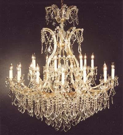 "Large Foyer / Entryway Maria Theresa Empress Crystal (Tm) Chandelier Lighting H 52"" W 46"" - Go-A83-52/2Mt/24+1"