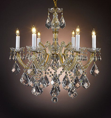 "Maria Theresa Chandelier Crystal Lighting Chandeliers H 20"" W 22"" - F83-B7/7002/6"