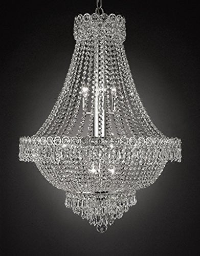 "French Empire Empress Crystal(Tm) Chandelier Lighting H 30"" W 24"" - Cjd-Cs/2176/24"