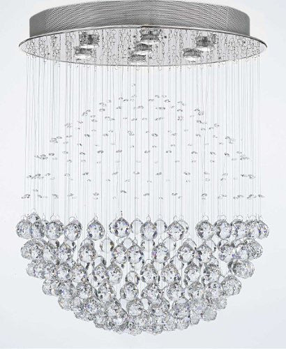 "Modern Contemporary Chandelier ""Rain Drop"" Chandeliers Lighting With Crystal Balls W24"" H30"" - G902-957/7"