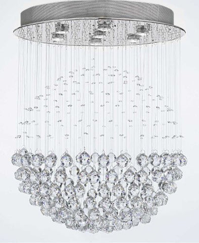 "Modern Contemporary Chandelier ""Rain Drop"" Chandeliers Lighting With Crystal Balls! W24"" H30"" - G902-957/7"