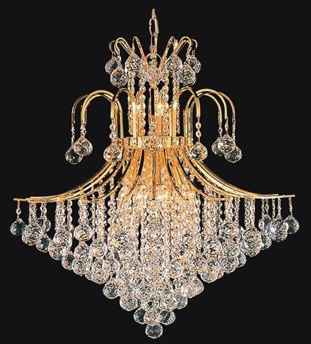 "French Empire Crystal Chandelier Chandeliers Lighting H35"" X W31"" - F93--876/14"