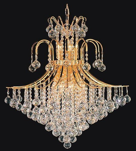 "Swarovski Crystal Trimmed Chandelier French Empire Crystal Chandelier Lighting H35"" X W31"" - J10-Cg/26068/14Sw"