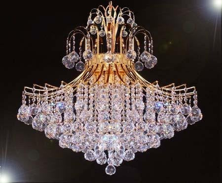 "French Empire Crystal Chandelier Lighting H30"" X W24"" - Go-A93-876/9"