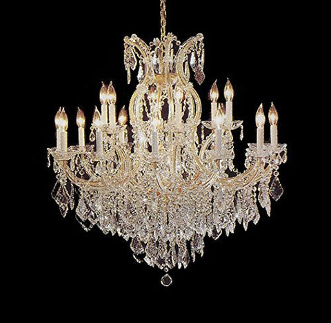 "Maria Theresa Chandelier Crystal Lighting Lights Fixture Pendant Ceiling Lamp For Dining Room Entryway Living Room H38"" X W37"" - A83-1/21510/15+1"
