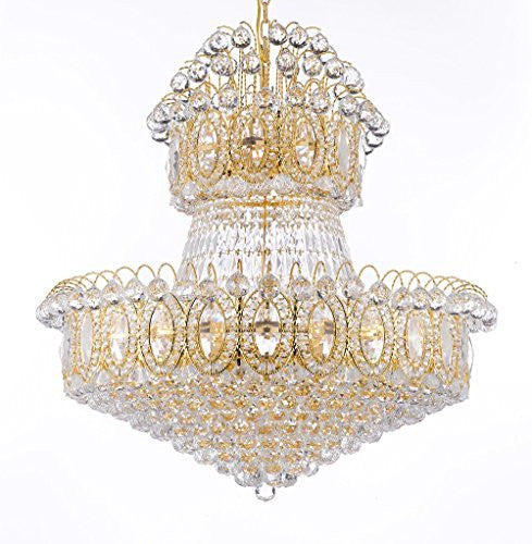 "Empire Chandelier Crystal Lighting Empress Crystal (Tm) Chandeliers H36"" W36"" - G93-2150/27"