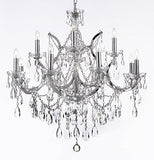 "Maria Theresa Chandelier Lighting Crystal Chandeliers H30 ""X W28"" Trimmed With Spectra (Tm) Crystal - Reliable Crystal Quality By Swarovski Chrome Finish - A83-Chrome/2527/12+1Sw"