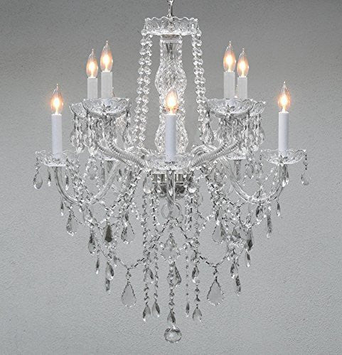 "Swarovski Crystal Trimmed Chandelier Chandelier Lighting Crystal Chandeliers H 30"" W 24"" 10 Lights - G46-B13/1122/5+5 Sw"