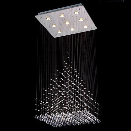 "Modern Contemporary Chandelier ""Rain Drop"" Chandeliers Lighting With Crystal Balls - G902-6836-9"