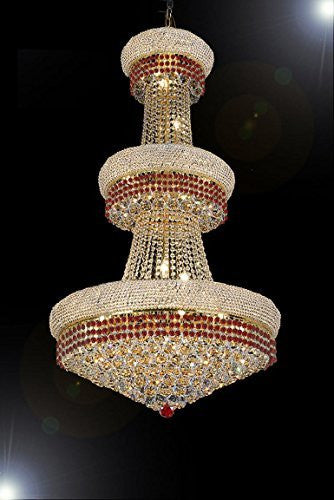 timeless design 9da0d 5321d French Empire Crystal Chandelier Chandeliers Moroccan Style Lighting  Trimmed With Ruby Red Crystal Good For Dining Room Foyer Entryway Family  Room And ...
