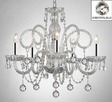 ALL CRYSTAL CHANDELIER LIGHTING CHANDELIERS WITH CRYSTAL BALLS W/CHROME SLEEVES! - A46-B43/B6/385/5