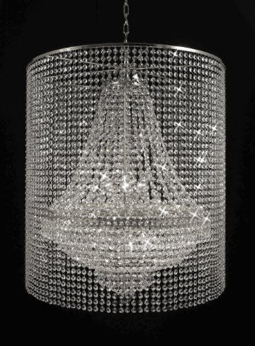 Empire Crystal Chandelier Lighting With Crystal Shade - F93-Silver/C2/870/9