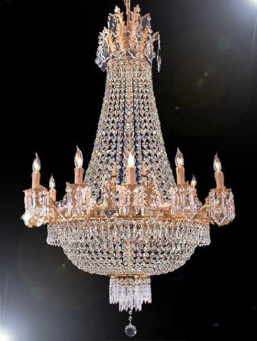 "Swarovski Crystal Trimmed Chandelier Empire Chandelier Lighting H 40"" W 30"" - A81-1280/10+5Sw"