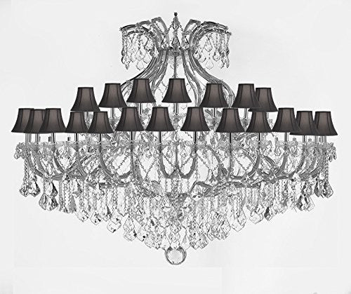 "Maria Theresa Empress Crystal (Tm) Chandelier Lighting H 48"" W 72"" With Black Shades - Cjd-Sc/Blackshade/B62/Cs/2181/72"