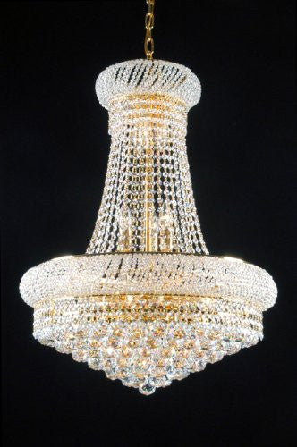 "French Empire Crystal Chandelier Lighting H 26"" W 20"" - Cjd1-Cg/541D20"