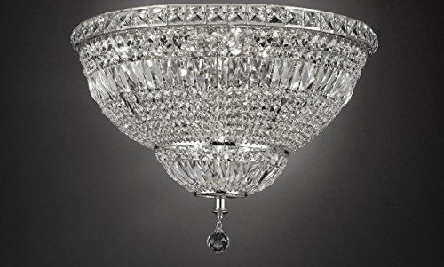"French Empire Empress Crystal(Tm) Flush Chandelier Lighting H 13"" W 24"" - Cjd-Flush/Cs/2174/24"