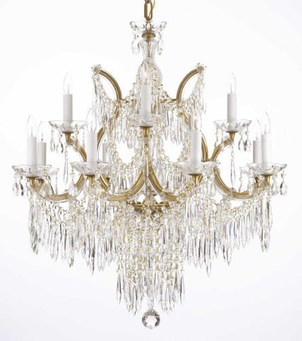 "Chandelier U Drops Crystal Chandeliers Waterfall Lighting H30"" X W28"" - F83-U/21532/12+1"