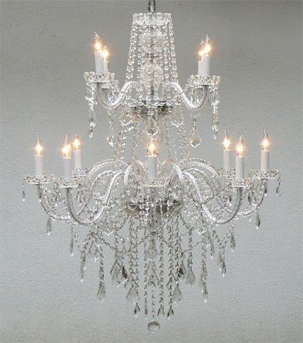 Authentic All Crystal Chandelier Lighting - J10-3/26048/8+4