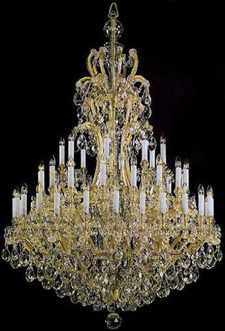 "Large Foyer / Entryway Maria Theresa Empress Crystal (Tm) Chandelier Lighting H72"" W68"" - G83-811/42"