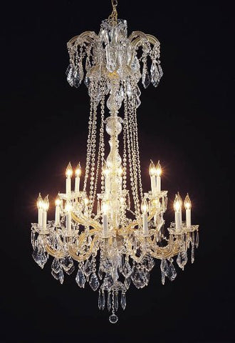 "Swarovski Crystal Trimmed Chandelier New Maria Theresa Chandelier Crystal Lighting H60"" W33"" - A83-352/18 Sw"