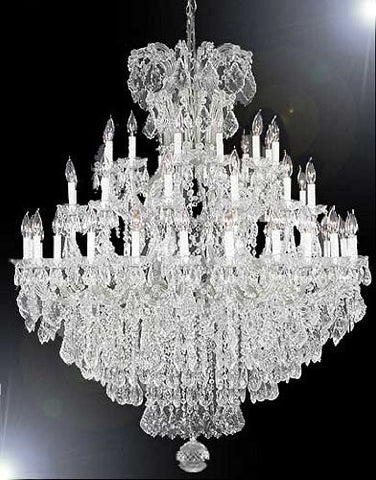 Swarovski Crystal Trimmed Chandelier Chandelier Crystal Chandeliers Lighting Dressed Swarovski Crystal 52X60 - A83-Silver/2756/36+1Sw