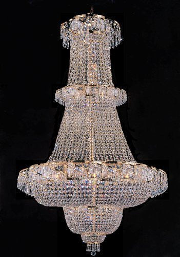 "Swarovski Crystal Trimmed Chandelier French Empire Crystal Chandelier Lighting 60""X36"" - A93-928/32Sw"