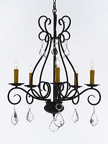 "Wrought Iron Chandelier Crystal Lighting Empress Crystal (Tm) Chandeliers H25.5"" W25.5"" - P7-B7/441/5"