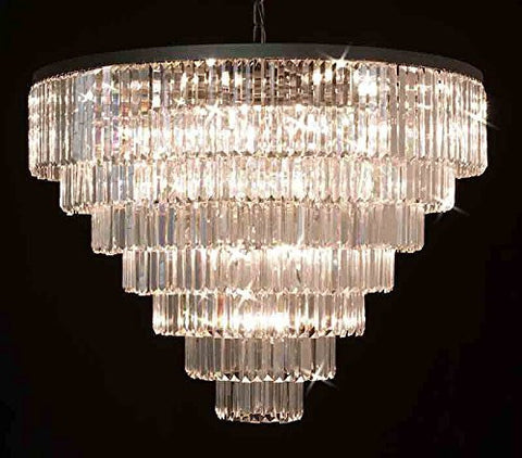 "Retro Palladium Empress Crystal (Tm) Glass Fringe 7 Tier Chandelier Lighting H 33.5"" W 43.5"" - G7-1157/33"