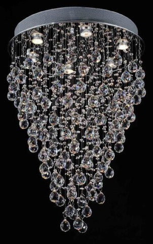 "Modern Contemporary Chandelier ""Rain Drop"" Chandeliers Lighting With Crystal Balls W 18"" X H 32"" - G902-1115/6"