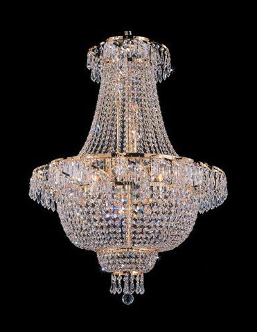 "French Empire Crystal Chandelier Lighting H 30"" W24"" - A93-928/9"