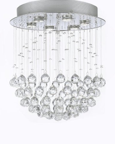 "Modern Contemporary Chandelier ""Rain Drop"" Chandeliers Lighting With Crystal Balls W18"" H21"" - F93-1118/6"
