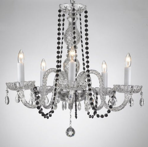 Crystal Chandelier Lighting With Black Color Crystal - A46-Blackb1/384/5