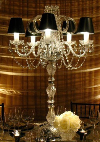 Swarovski Crystal Trimmed Set Of 10 Wedding Candelabras Candelabra Centerpieces - Great For Special Events - Set Of 10 - G46-Sc/545/5Sw-Set Of 10
