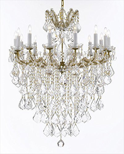 "Maria Theresa Chandelier Crystal Lighting Chandeliers Lights Fixture Pendant Ceiling Lamp For Dining Room Entryway Living Room H 36"" X W 31"" - A83-B13/B7/Cg/2489/14"