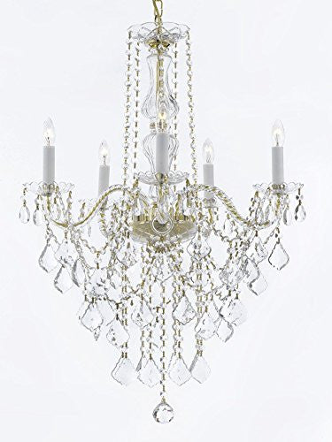 "Murano Venetian Style All-Crystal Chandelier Lighting H30"" X W24"" - G46-Cg/3/384/5"