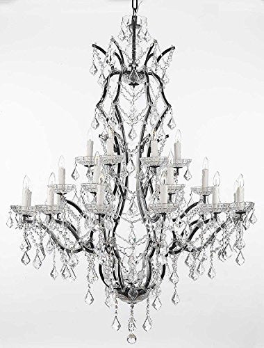 "Swarovski Crystal Trimmed Chandelier 19Th C. Rococo Iron & Crystal Chandelier Lighting H 52"" X W 41"" - A83-996/25 Sw"