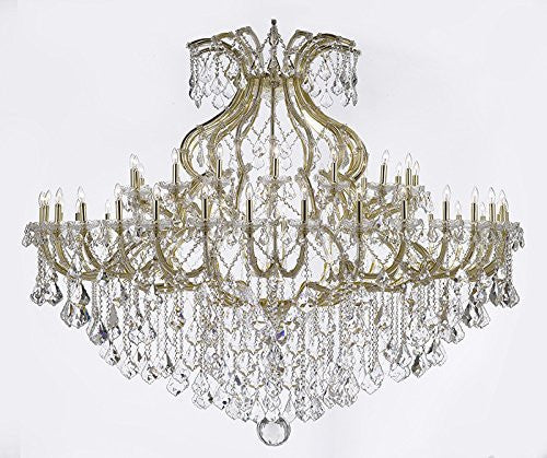 "Maria Theresa Crystal Chandelier H 60"" W 72"" Trimmed With Spectratm Crystal - Reliable Crystal Quality By Swarovski - Cjd-Cg/2181/72Sw"
