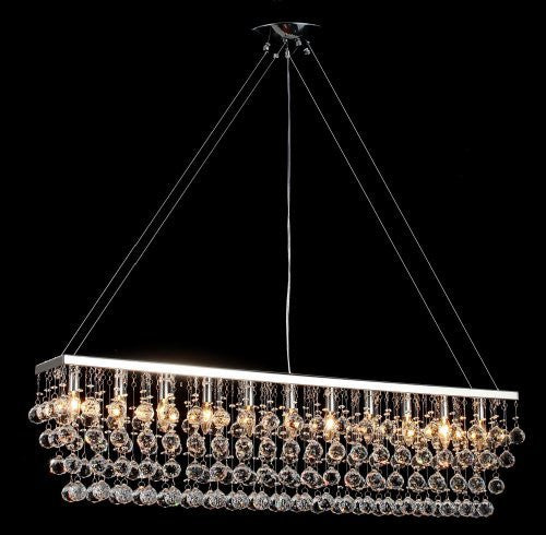 Chandelier W Crystal Modern Contemporary Quot Rain Drop