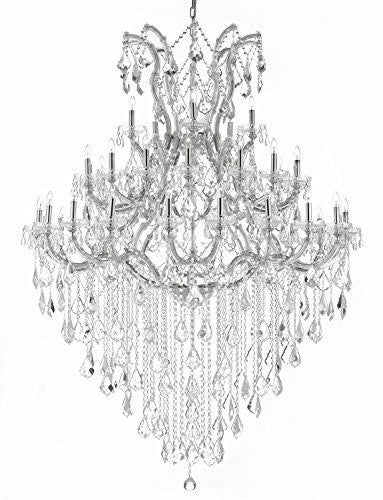 "Maria Theresa Crystal Chandelier Lighting H 72"" W 52"" Trimmed With Spectra (Tm) Crystal - Reliable Crystal Quality By Swarovski - Cjd-Cs/B12/2181/52Sw"
