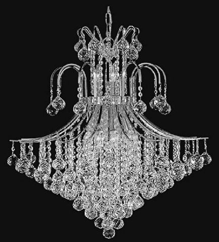 "French Empire Crystal Chandelier Lighting H35"" X W31"" - F93-Silver/876/14"