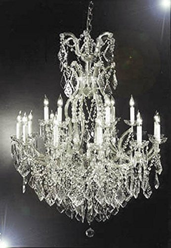 "Swarovski Crystal Trimmed Chandelier Chandelier Crystal Lighting Chandeliers H44"" X W37"" - A83-Silver/52/21510/15+1Sw"