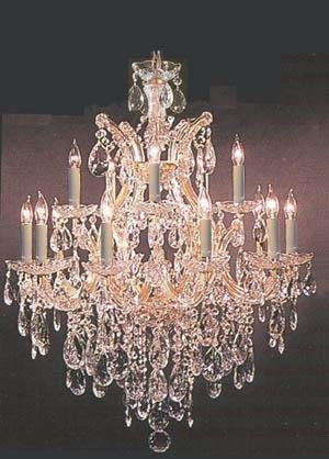 "Chandelier 30X28 With Swarovski Crystal H30"" X W28"" - Go-A83-21532/12+1Sw"