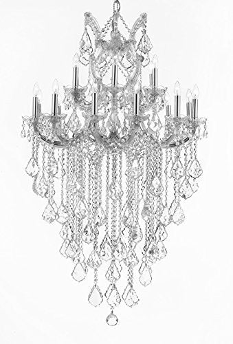 "Maria Theresa Empress Crystal (Tm) Chandelier Lighting H 50"" W 30"" - Cjd-Cs/B12/2181/30"