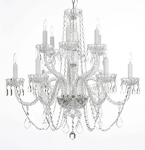 "Swarovski Crystal Trimmed Chandelier Chandelier Lighting Crystal Chandeliers H27"" X W32"" - Go-A46-385/6+6B Sw"