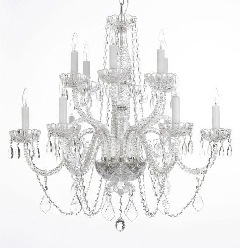"Chandelier Lighting Crystal Chandeliers H27"" X W32"" - Go-A46-385/6+6B"