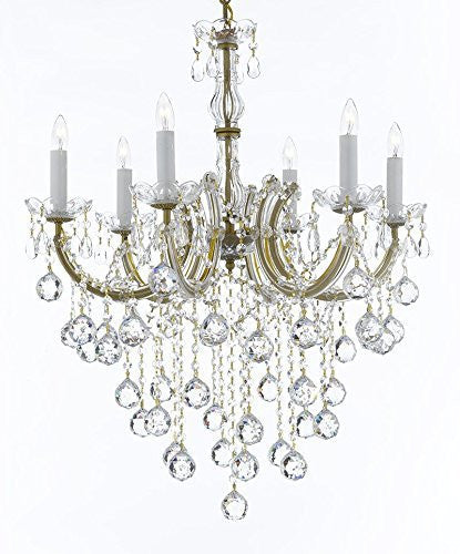 "Swarovski Crystal Trimmed Chandelier Maria Theresa Chandelier Crystal Lighting Chandeliers H 30"" W 22"" - J10-B61/26066/6Sw"