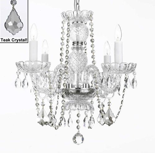 Crystal Chandelier Lighting With Teak Color Crystal - A46-Teakb2/275/4
