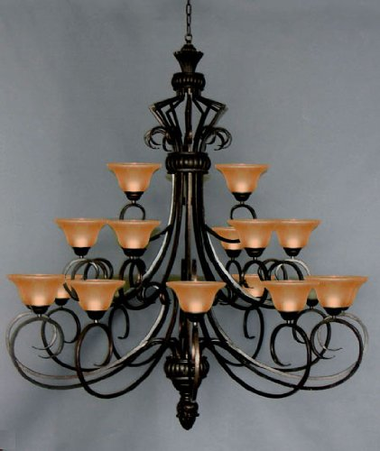 Six FT Wrought Iron Chandelier Large Foyer Entryway ...
