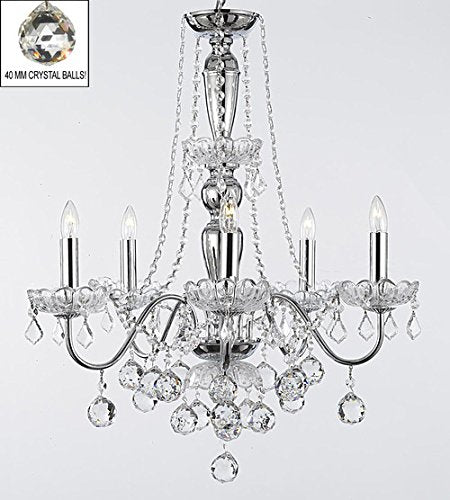 "Royal Collection 5-Lights Crystal Chandelier W 22.5"" X H 27"" - B6/2/26017/5"